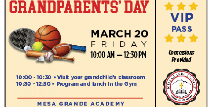 Friday, March 20 - Grandparents' Day